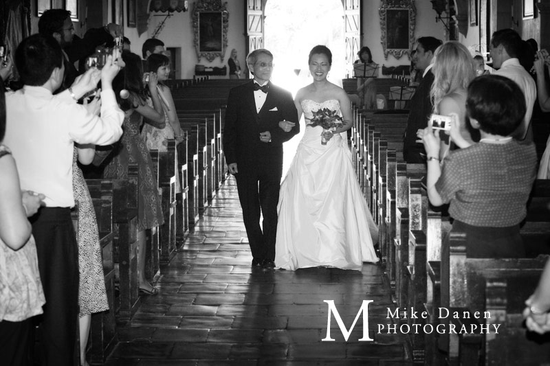 wedding photographer processional mission carmel Mike Danen