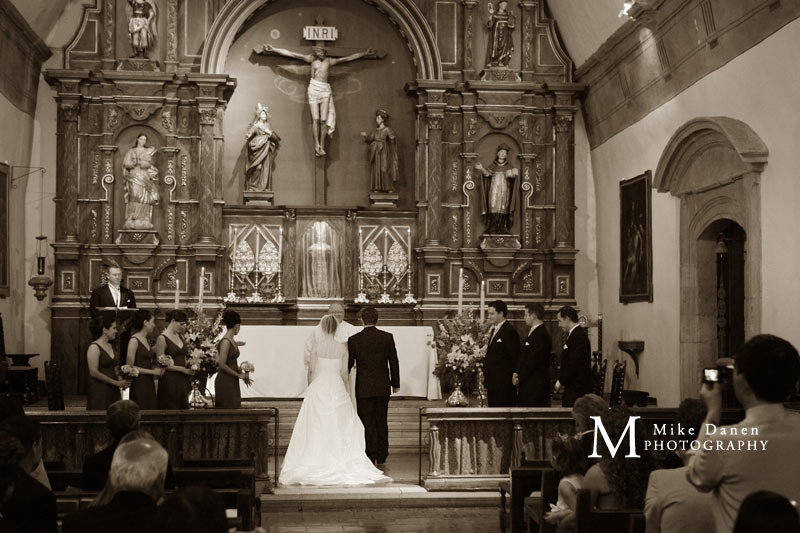 wedding photography studio gallery carmel mission mike danen