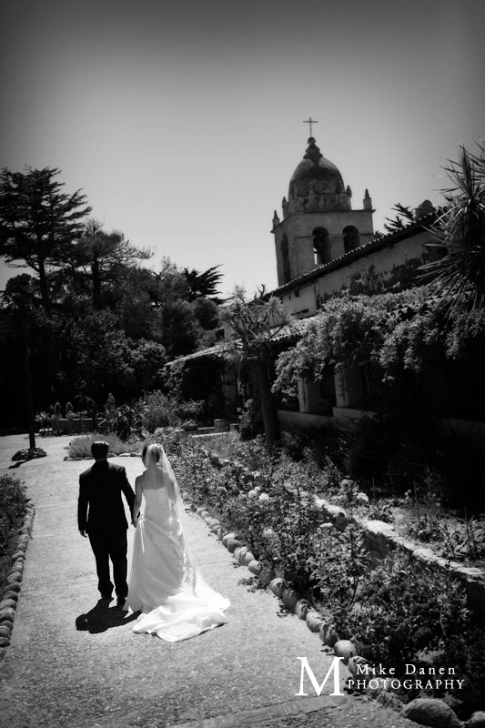 Carmel Mission Basilica photography wedding Mike Danen