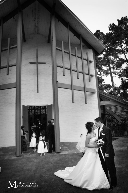 the butterfly church first methodist pacific grove wedding photography