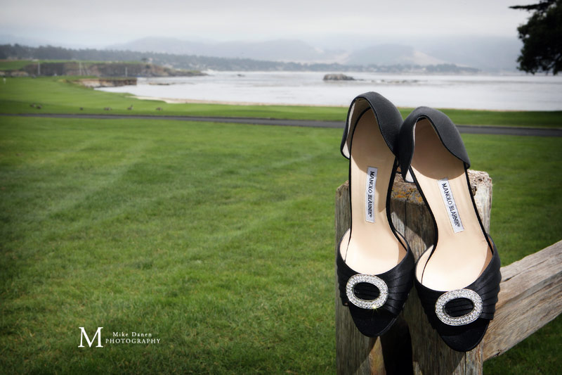 Pebble Beach Manolo Blahnik wedding photographer Mike Danen