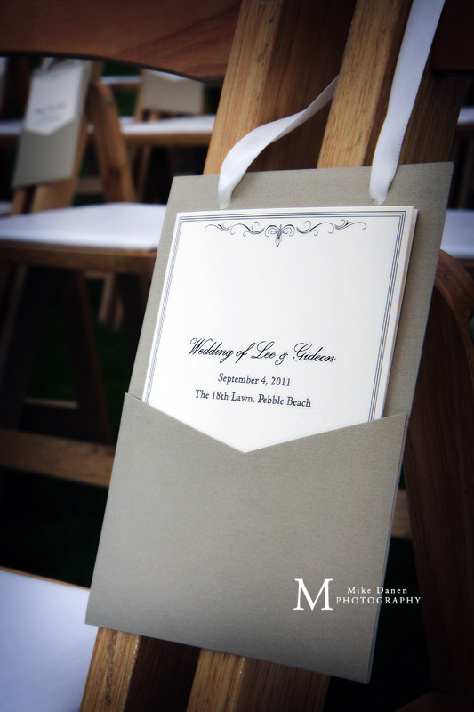 The 18th Lawn Pebble Beach wedding photography Mike Danen