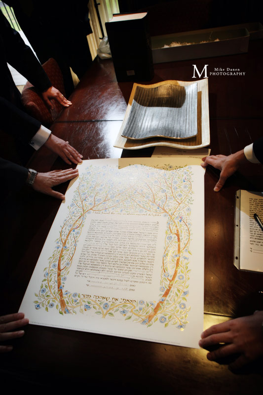 Jewish wedding Ketubah Pebble Beach photographer Mike Danen