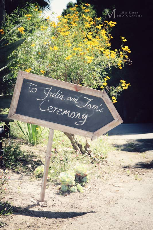 wedding sign at kennolyn by Mike Danen Photography
