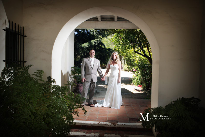 Bride and Groom at the Memory Garden Monterey