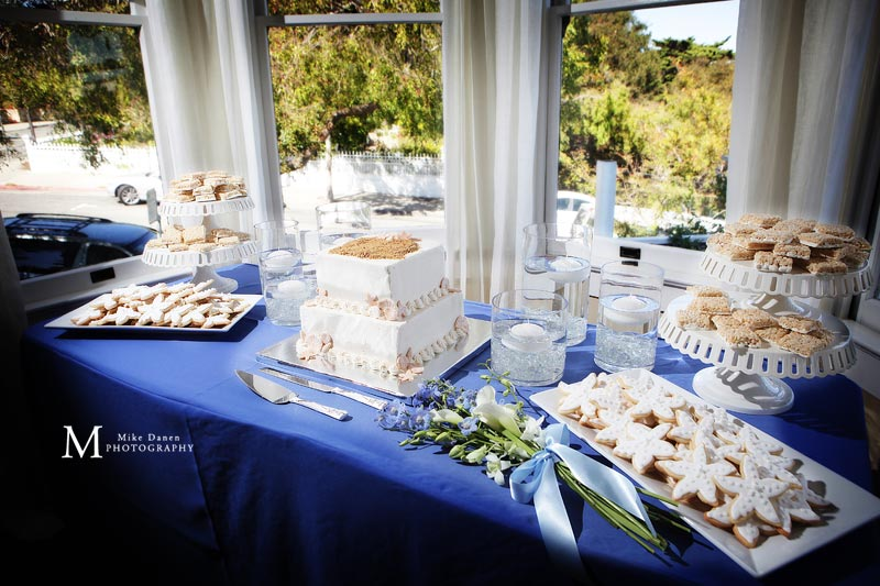 Wedding cake and Cookies by Room For Dessert Monterey