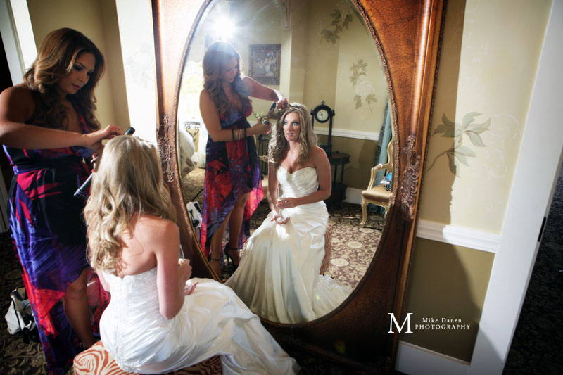 Bridal preparations at the Perry House