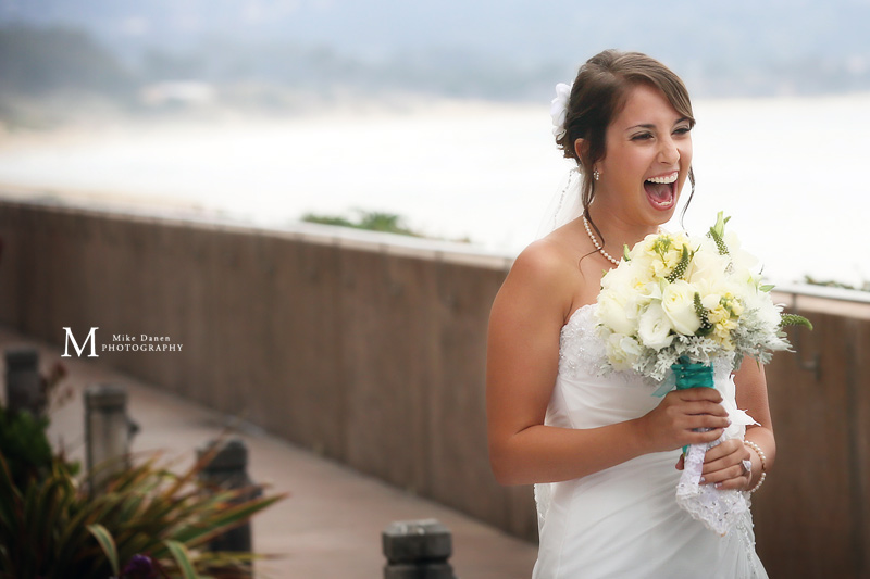 Happy Bride Monterey Beach Resort