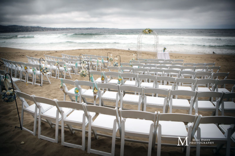 Wedding on the beach Monterey California