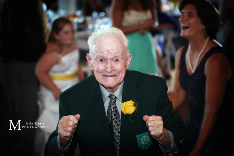 Grandpa at wedding reception