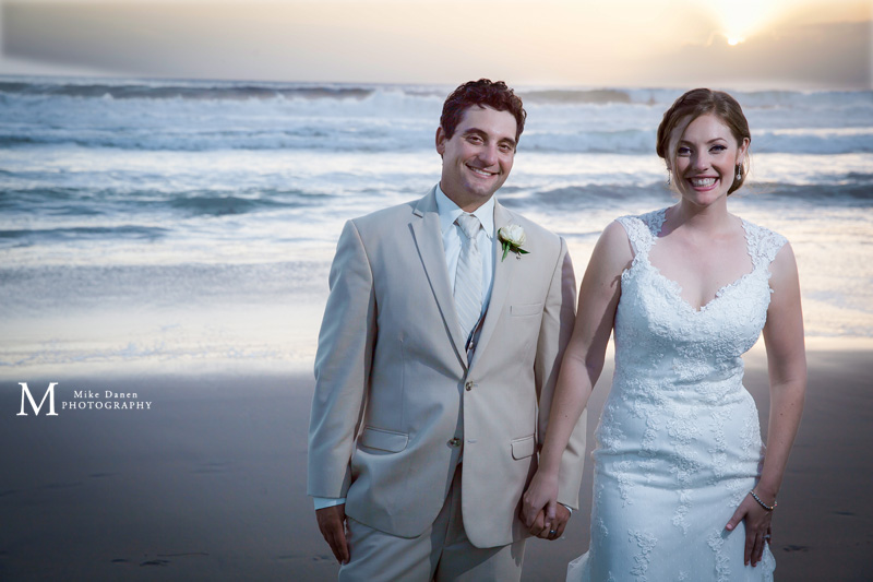Seascape Beach bride and groom